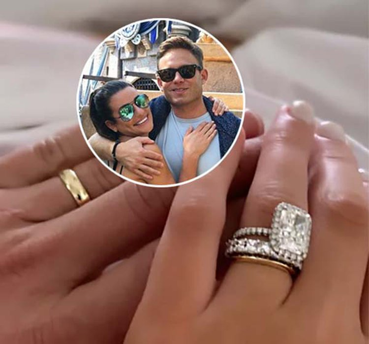 Newlywed Lea Michele Shows Off Two Wedding Bands — One Sparkly, One Simple